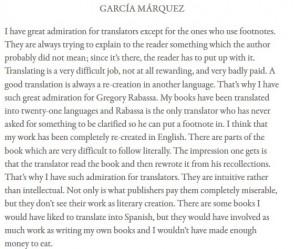 Palabras García Márquez